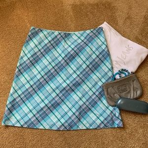 American Eagle Blue Plaid Skirt